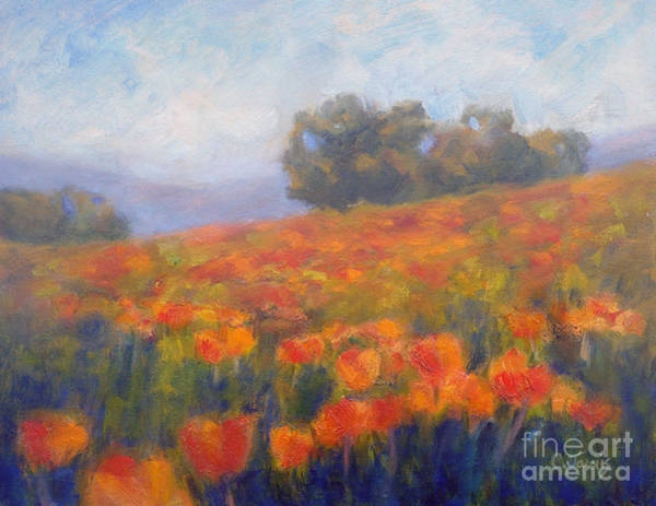 Painting - Field Of Poppies by Carolyn Jarvis