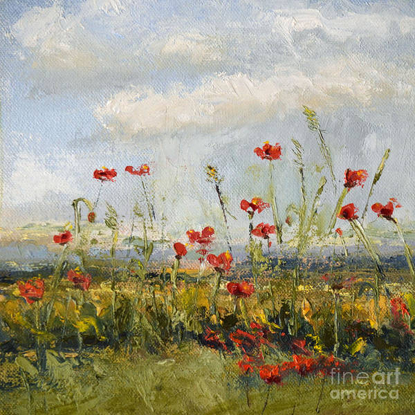 Wall Art - Painting - Field Of Poppies by Patricia Caldwell