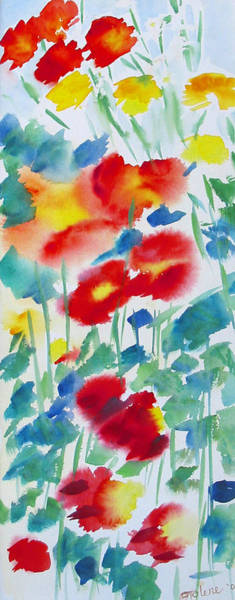 Poppie Painting - Field Poppies 1 by Tolere