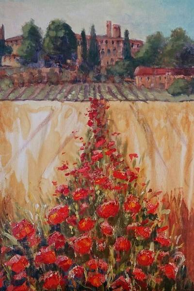 Painting - Field Poppies by Kathy  Karas