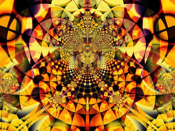 Digital Art - Fiery Bloom by Frederic Durville