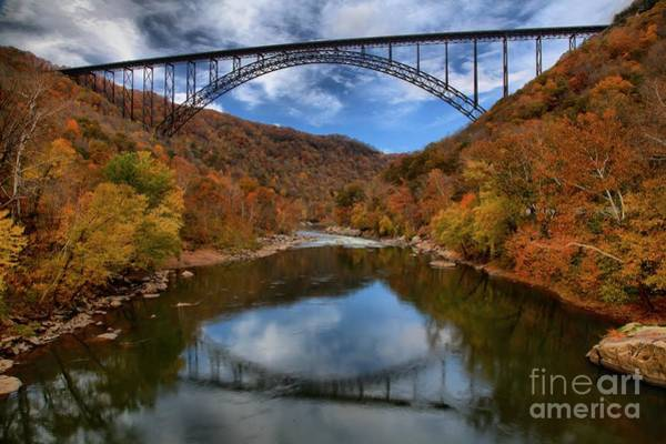 Photograph - Fiery Colors At New River Gorge Bridge by Adam Jewell