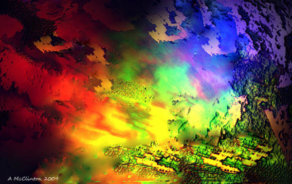 Q Digital Art - Fiery Heavens by Ang Q