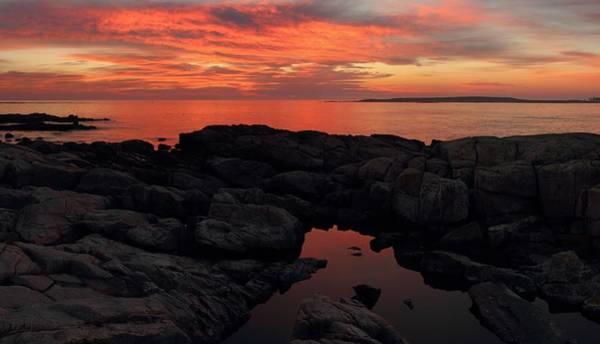 Photograph - Fiery Schoodic Sunrise by Mike Farslow
