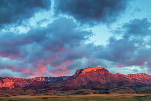 Alpenglow Photograph - Fiery Sunrise Light Strikes Ear by Chuck Haney