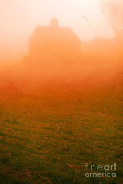Photograph - Fiery Sunrise On The Farm by Edward Fielding