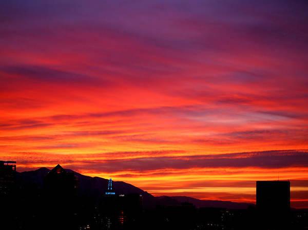 Photograph - Fiery Sunset by Rona Black