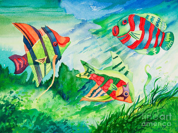 Painting - Fiesta Fish by Michelle Constantine
