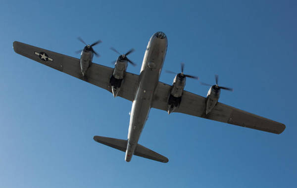 Superfortress Photograph - Fifi Overhead by John Daly