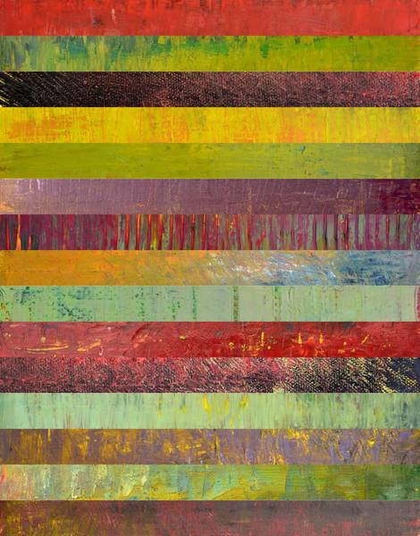 Graphic Digital Art - Fifteen Stripes No. 1 by Michelle Calkins