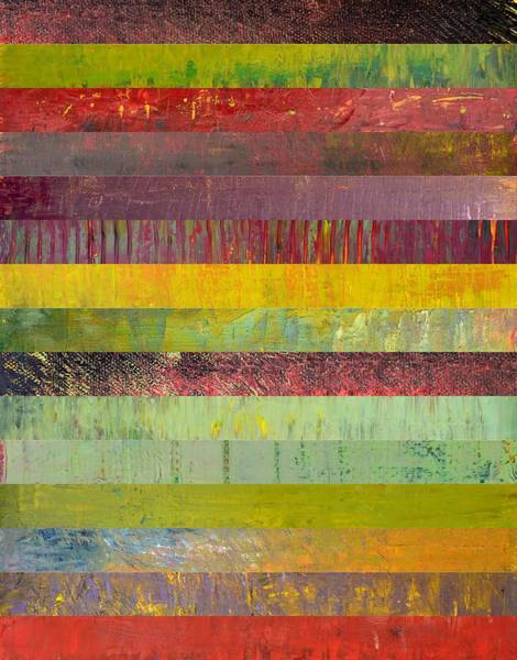 Graphic Digital Art - Fifteen Stripes No. 2 by Michelle Calkins