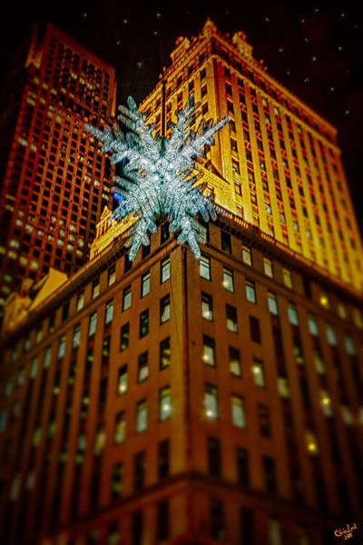 Photograph - Fifth Avenue Holiday Star by Chris Lord