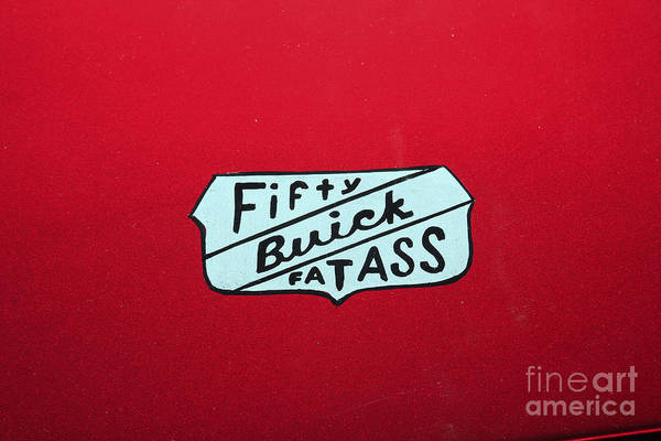 Photograph - Fifty Buick Fatass by Jerry Bunger