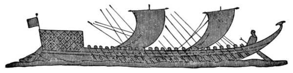 Wall Art - Painting - Fifty Oared Greek Boat by Granger