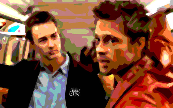 Brad Pitt Digital Art - Fight Club 2 by Douglas Simonson