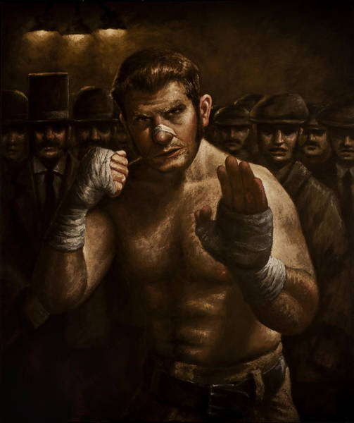 Boxing Painting - Fight by Mark Zelmer