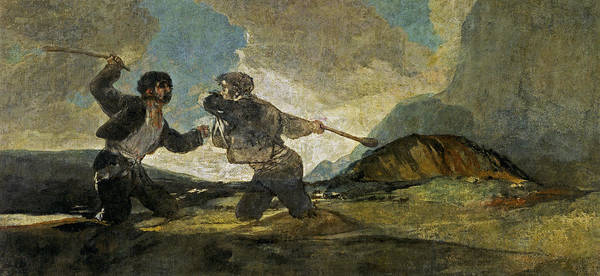 Untitled Painting - Fight With Cudgels In English by Celestial Images