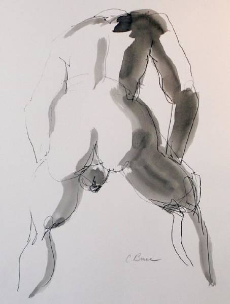 Figure 2 Male Nude Art Print by Craig  Bruce
