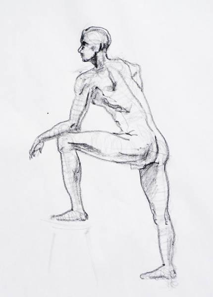 Naked Men Drawing - Figure Drawing Study II by Irina Sztukowski