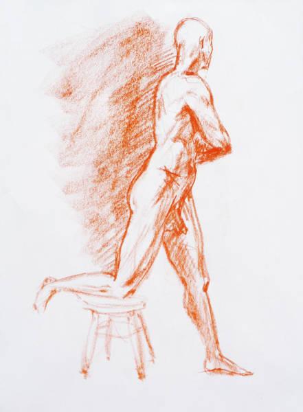 Naked Men Drawing - Figure Drawing Study IIi by Irina Sztukowski