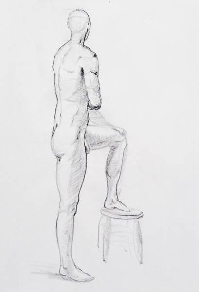 Naked Men Drawing - Figure Drawing Study Iv by Irina Sztukowski