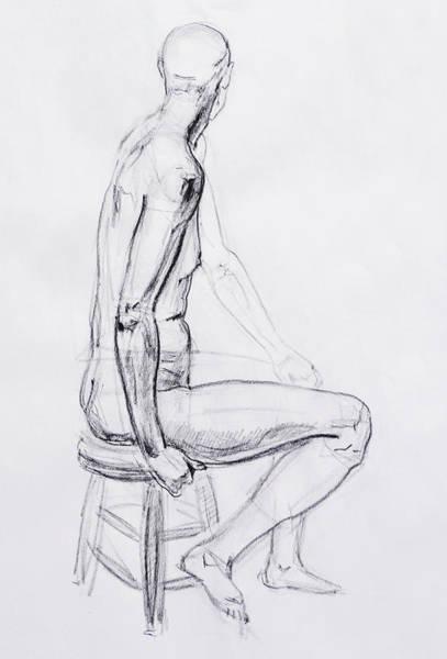 Naked Men Drawing - Figure Drawing Study V by Irina Sztukowski