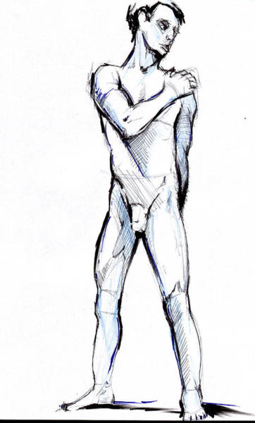 Drawing - Figure  by John Jr Gholson