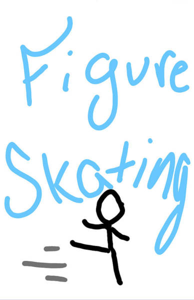 Description Digital Art - Figure Skating by Jada Johnson