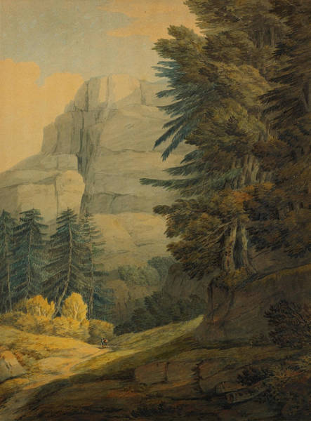 Painting - Figures Walking Near Glarus Switzerland  by Celestial Images