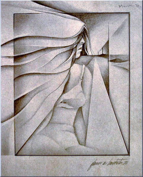Figurescape 1970 Art Print