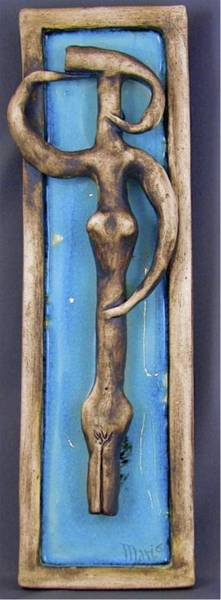 Sculpture - Figurine #1 by Mario MJ Perron