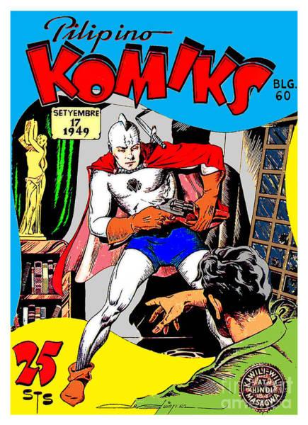 Filipino Drawing - Filipino Action Comics by Jonas Luis