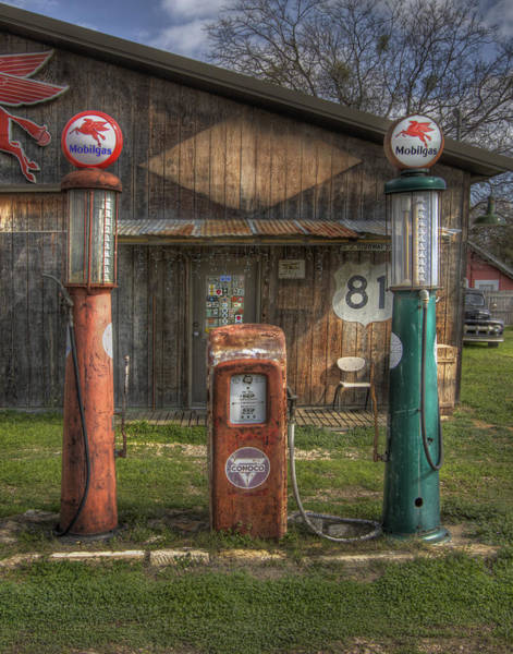 Gas Photograph - Fill 'er Up by David and Carol Kelly