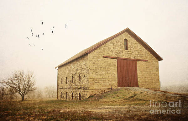 Filley Stone Barn 1 Art Print