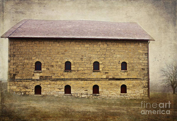 Photograph - Filley Stone Barn South Side by Pam  Holdsworth