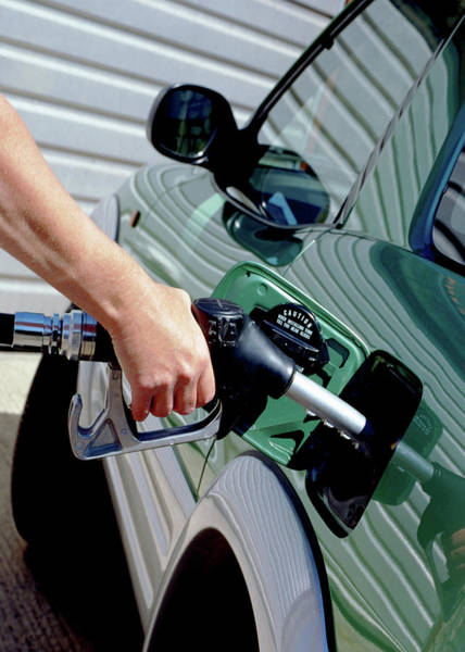 Wall Art - Photograph - Filling Petrol Tank by Steve Allen/science Photo Library