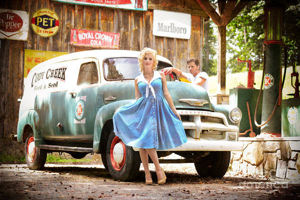 Wall Art - Photograph - Filling Station Pinup by Jt PhotoDesign