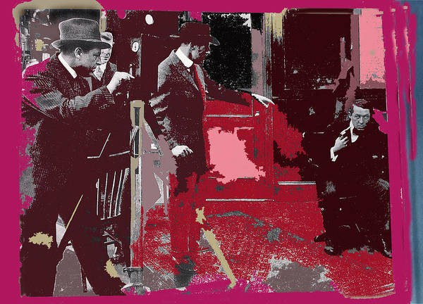 D W Griffith Photograph - Film Homage Cameraman Billy Bitzer Director D.w. Griffith Collage Circa 1912-2012 by David Lee Guss