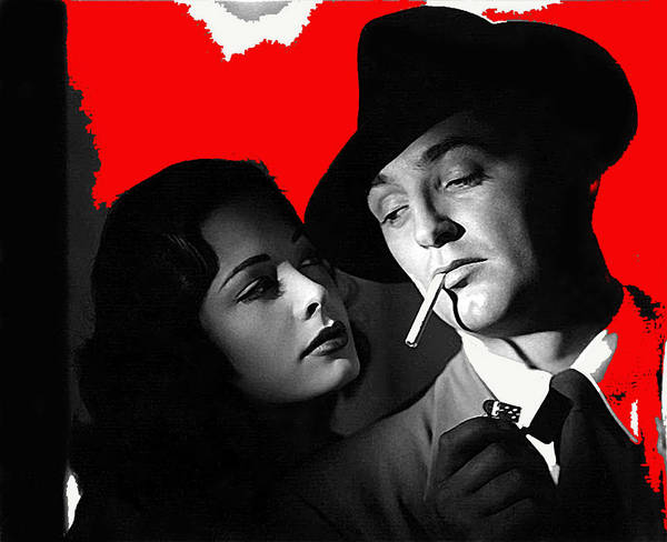 Film Noir Jane Greer Robert Mitchum Out Of The Past 1947 Rko Color Added 2012 Art Print
