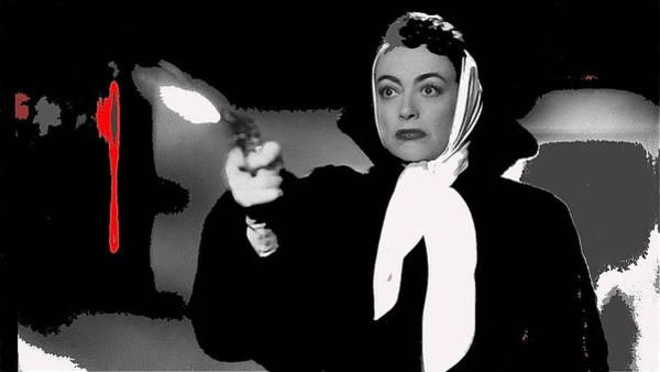 Film Noir Joan Crawford Jack Palance Sudden Fear 1952 Rko Publicity Photo Color Added 2012 Art Print