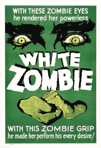 White Zombie Painting - Film Poster For White Zombie by Celestial Images