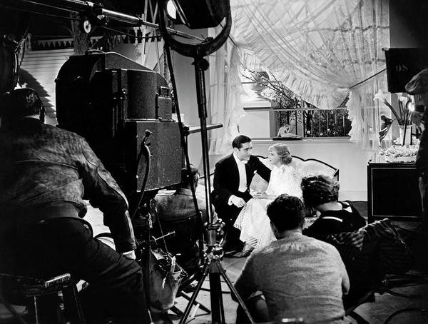 Photograph - Filming A Love Scene by Underwood Archives