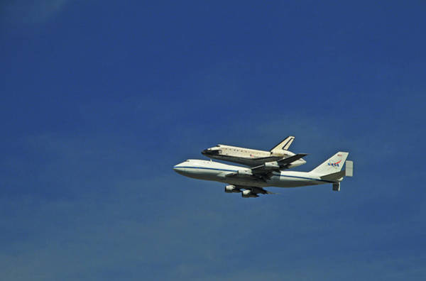 California Mission Photograph - Final Flight Of The Space Shuttle by Mitch Diamond