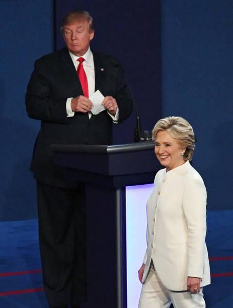 Final Presidential Debate Between Hillary Clinton And Donald Trump Held In Las Vegas Art Print by Ethan Miller