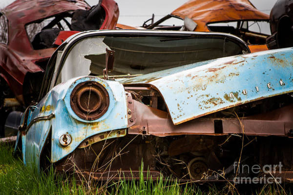 Wrecking Yard Photograph - Final Resting Place by Mark Brooks