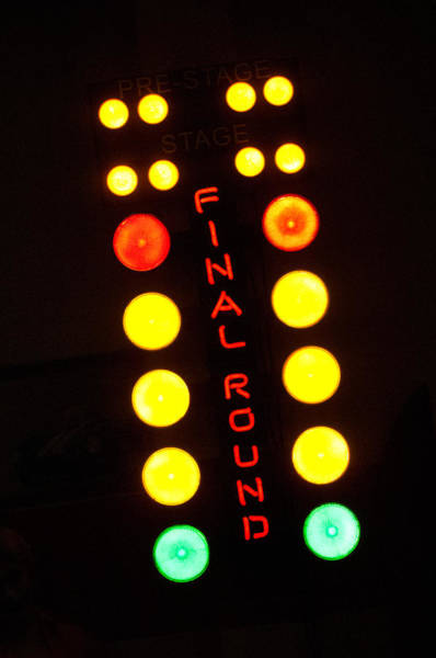 Neon Photograph - Final Round Neon Sign by Jill Reger