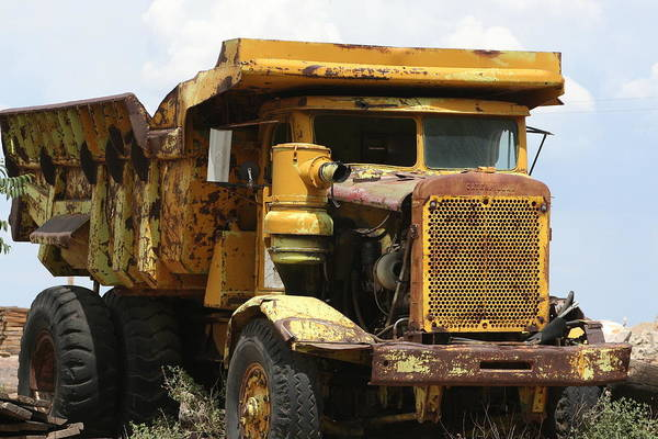 Dump Truck Photograph - Finally Retired by DL Harrison