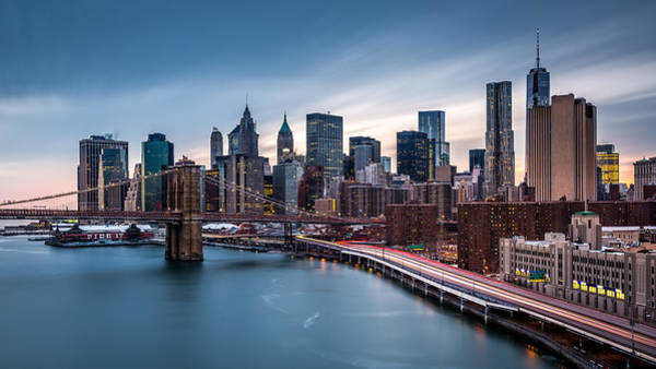 Photograph - Financial District At Dusk by Mihai Andritoiu