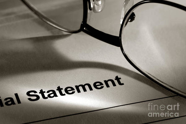 Statement Wall Art - Photograph - Financial Statement by Olivier Le Queinec