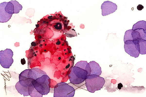 Painting - Finch In The Flowerbox by Dawn Derman